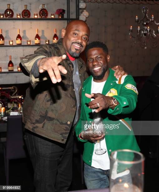 Steve Stoute and Kevin Hart attend the Klutch Sports Group More Than A Game Dinner Presented by Remy Martin at Beauty Essex on February 17 2018 in...