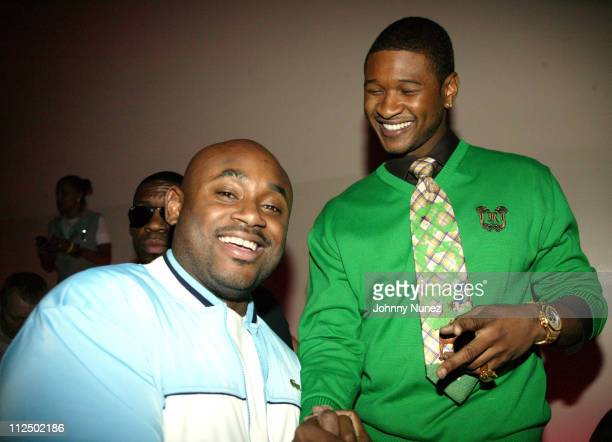 Steve Stoute and Usher during Sean 'P Diddy' Combs Hosts Bad Boy Warner Bros Music Partnership Party at Flow in New York City New York United States
