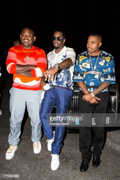 Steve Stoute Sean 'Diddy' Combs and Nasire 'Nas' Jones arrive at Gotha Night Club during Cannes Lions International Festival of Creativity at Gotha...
