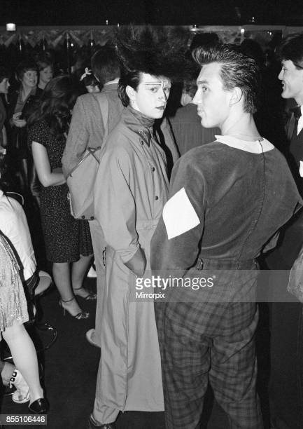 Steve Strange and Martin Kemp at the new nightclub Stringfellows in Covent Garden, London, 1st August 1980.