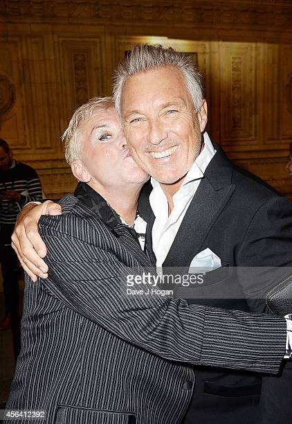 Steve Strange and Martin Kemp attend the World Premiere of Soul Boys Of The Western World at Royal Albert Hall on September 30 2014 in London England
