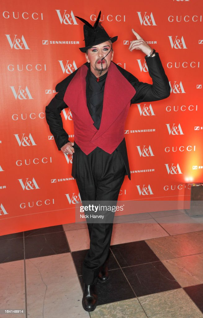 Steve Strange attends the private view of the 'David Bowie Is' exhibition at the Victoria And Albert Museum at Victoria & Albert Museum on March 20, 2013 in London, England.