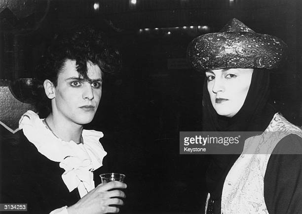 Steve Strange of the new romantic synth-pop group Visage at the People's Palace club in the Rainbow Theatre, London.