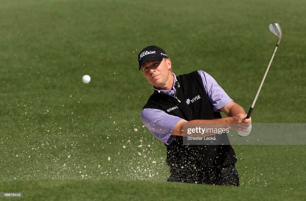 Steve Stricker during the second round of the 2010 Masters Tournament at Augusta National Golf Club on April 9, 2010 in Augusta, Georgia.