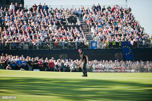 Steve Stricker during the session four singles matches at the 38th Ryder Cup at the Twenty Ten Course at Celtic Manor in Newport Wales on Monday...