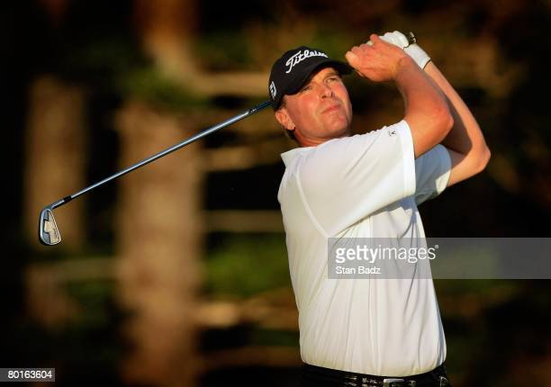 Steve Stricker hits from the second tee during the final round of the Mercedes-Benz Championship at the Plantation Course at Kapalua on January 6,...