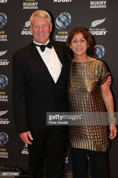 Steve Tew and wife Michelle during the ASB Rugby Awards 2018 at Sky City on December 14 2017 in Auckland New Zealand