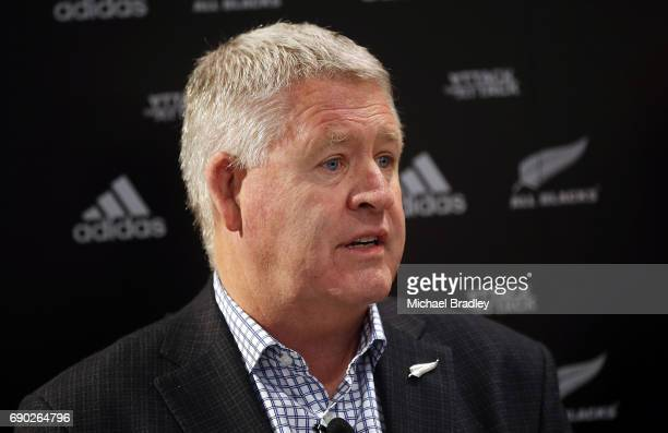 Steve Tew CEO of the New Zealand Rugby during the New Zealand All Blacks adidas jersey launch at adidas Newmarket Store on May 31 2017 in Auckland...