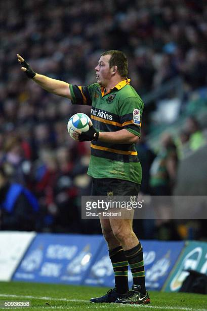 Steve Thompson of Northampton pictured during the Heineken Cup match between Northampton Saints and Scottish Borders at Franklin's Gardens on January...