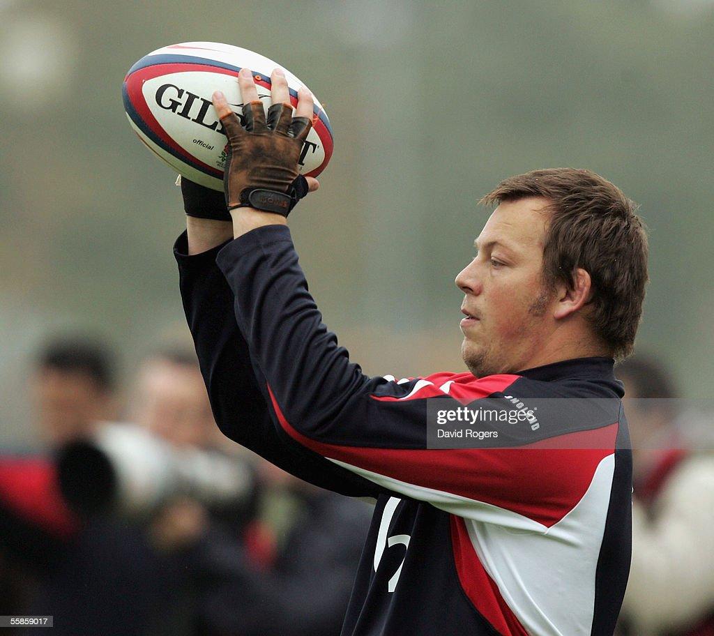 England Rugby Union Training : News Photo