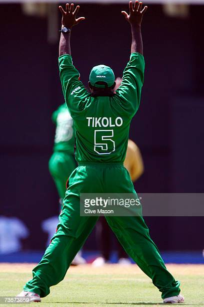 Steve Tikolo of Kenya appeals for a wicket during the ICC Cricket World Cup Group C match between Canada and Kenya at the Beausejour Cricket Ground...
