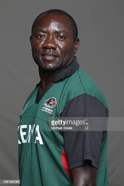 Steve Tikolo of Kenya during a portrait session ahead of the 2011 ICC World Cup on February 16 2011 in Colombo Sri Lanka