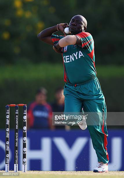 Steve Tikolo of Kenya in action during the ICC World Twenty20 Qualifier match between Nepal and Kenya at the ICC Academy on November 16 2013 in Dubai...