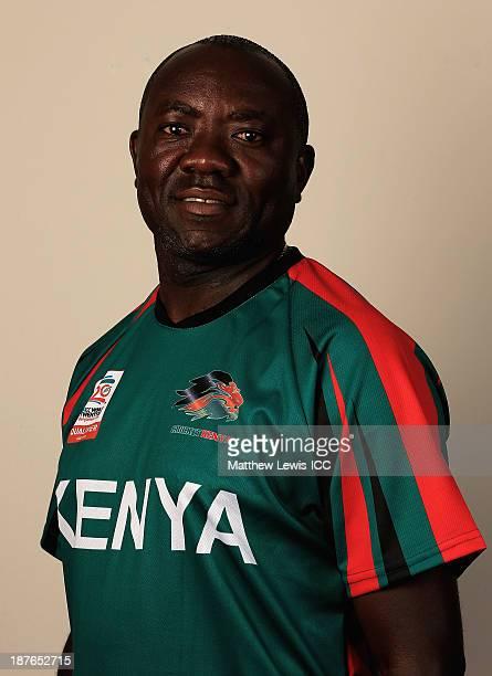 Steve Tikolo of Kenya pictured during a headshot session ahead of the ICC World Twenty20 Qualifiers on November 11 2013 in Dubai United Arab Emirates