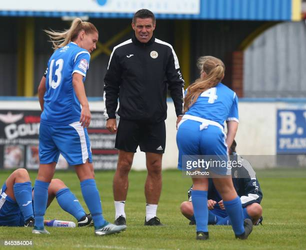 Steve Tilson First Team manager of CampK Basildon Ladies during FA Women's Premier League Southern Division match between C amp K Basildon Ladies...