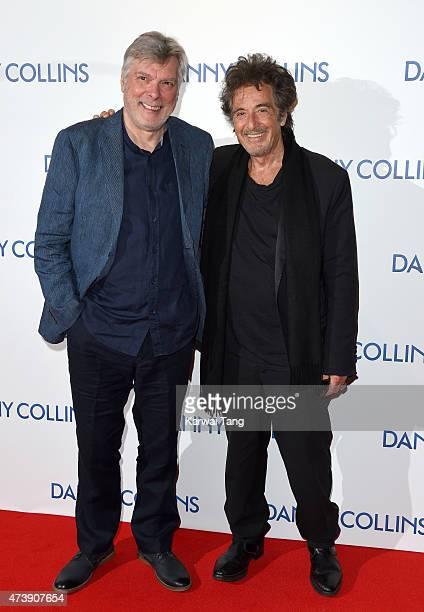 Steve Tilston and Al Pacino attend the UK Premiere of Danny Collins at Ham Yard Hotel on May 18 2015 in London England