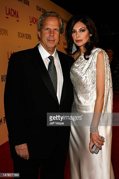 Steve Tisch and Alia Varsano arrive at LACMA's Opening Celebration of the Broad Contemporary Art Museum on February 9 2008 in Los Angeles California