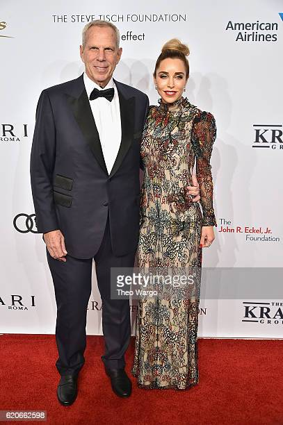 Steve Tisch and Katia Francesconi attend 15th Annual Elton John AIDS Foundation An Enduring Vision Benefit at Cipriani Wall Street on November 2 2016...