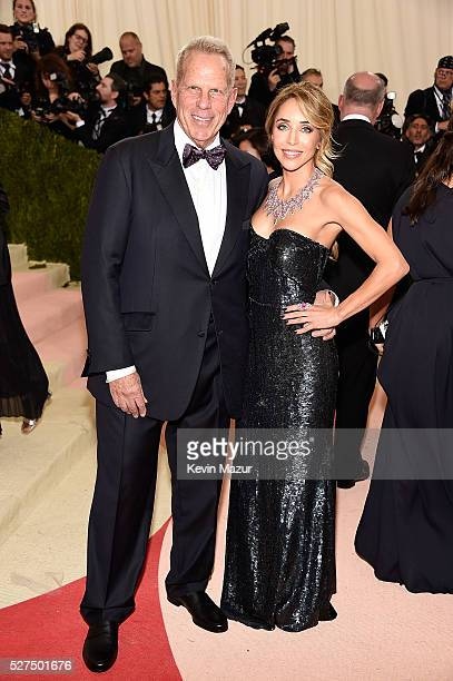 Steve Tisch and Katia Francesconi attend Manus x Machina Fashion In An Age Of Technology Costume Institute Gala at Metropolitan Museum of Art on May...