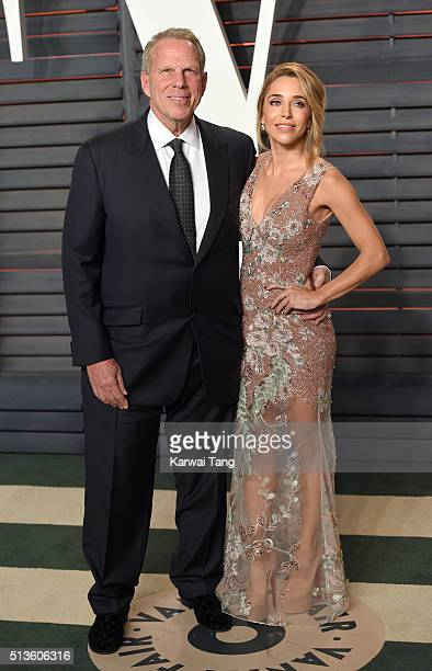 Steve Tisch and Katia Francesconi attend the 2016 Vanity Fair Oscar Party Hosted By Graydon Carter at Wallis Annenberg Center for the Performing Arts...