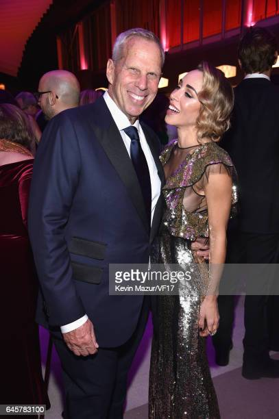 Steve Tisch and Katia Francesconi attends the 2017 Vanity Fair Oscar Party hosted by Graydon Carter at Wallis Annenberg Center for the Performing...
