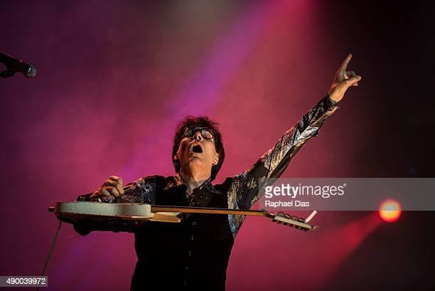 Steve Vai performs at 2015 Rock in Rio on September 25, 2015 in Rio de Janeiro, Brazil.