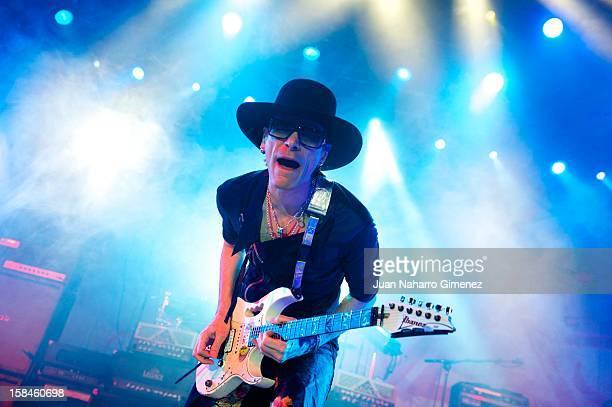 Steve Vai performs on stage at La Riviera on December 16, 2012 in Madrid, Spain.