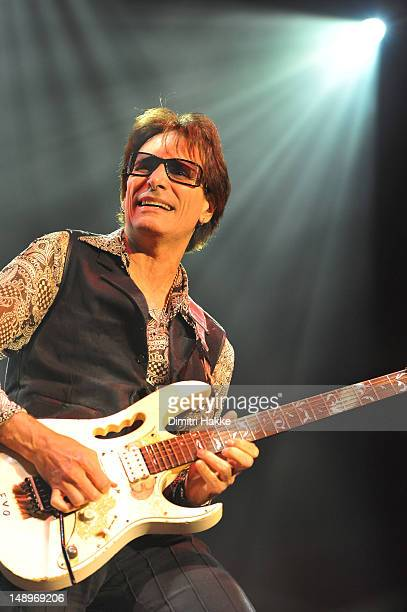 Steve Vai performs on stage during G3 Tour 2012 at Heineken Music Hall on July 20, 2012 in Amsterdam, Netherlands.