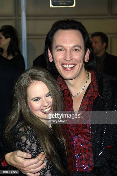Steve Valentine and wife Shari during 28th Annual People's Choice Awards Arrivals at Pasadena Civic Auditorium in Pasadena California United States