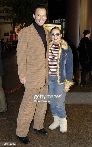 Steve Valentine and wife Shari during A Mighty Wind Los Angeles Premiere at The Directors Guild of America in West Hollywood California United States