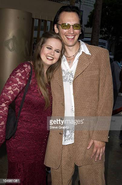 Steve Valentine and wife Shari during CQ Premiere Los Angeles at Egyptian Theatre in Hollywood California United States