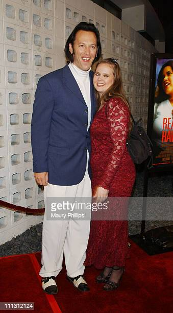 Steve Valentine and wife Shari during HBO Presents Real Women Have Curves Premiere at Cinerama Dome in Hollywood California United States