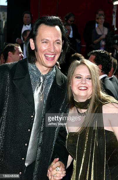 Steve Valentine and wife Shari during The 54th Annual Primetime Emmy Awards Arrivals at The Shrine Auditorium in Los Angeles California United States