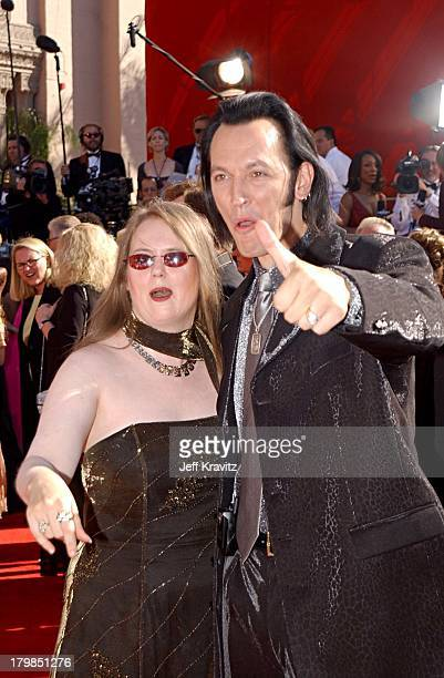 Steve Valentine and wife Shari during The 54th Annual Primetime Emmy Awards Arrivals at The Shrine Auditiorium in Los Angeles California United States