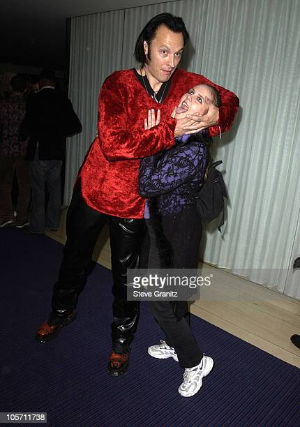 Steve Valentine and wife Shari during the Mondrian Hotel Halloween Party at The Mondrian Hotel in Los Angeles California United States