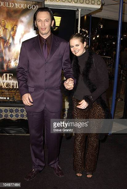 Steve Valentine and wife Shari during The Time Machine Premiere at Mann Village Theatre in Westwood California United States