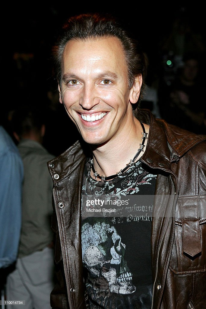 Steve Valentine Poses In Front Row At The Monarchy Collection Spring 2008  Fashion Show During The