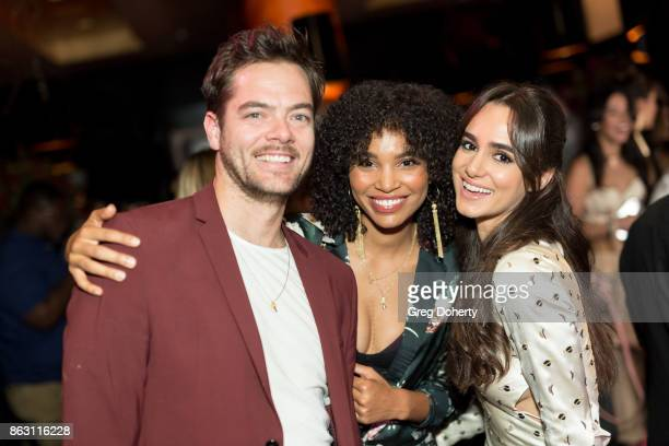 Steve Van Aucker and Actresses Nesta Cooper and Alicia Sanz attend the Childhelp Hosts An Evening Celebrating Hollywood Heroes at Riviera 31 on...