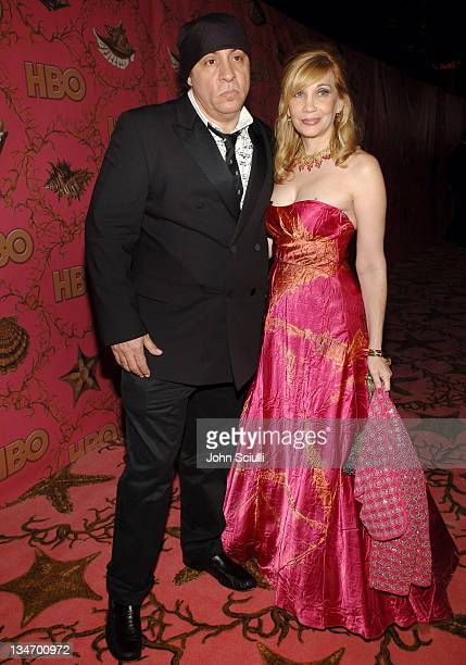 Steve Van Zandt and Maureen Van Zandt during 58th Annual Primetime Emmy Awards HBO After Party Red Carpet and Inside at Pacific Design Center in West...