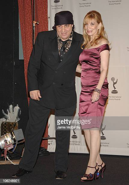 Steve Van Zandt and Maureen Van Zandt during The 34th International Emmy Awards Gala Press Room at New York Hilton in New York City New York United...