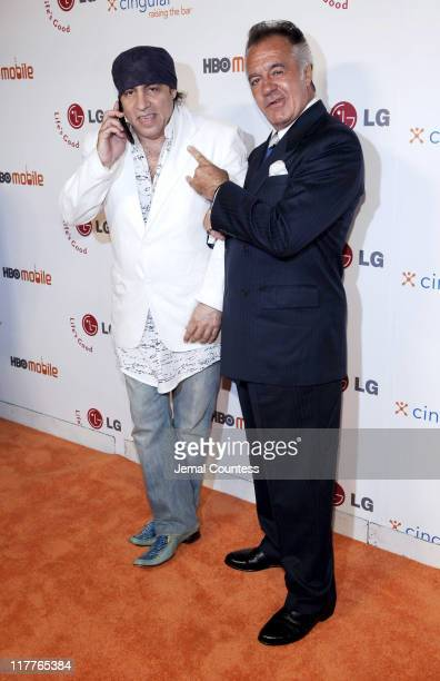 Steve Van Zandt Tony Sirico during Cingular and LG Host Preview Party for HBO Mobile and the New Cingular LGCU 500 Cell Phone Cingular Carpet at Mr...