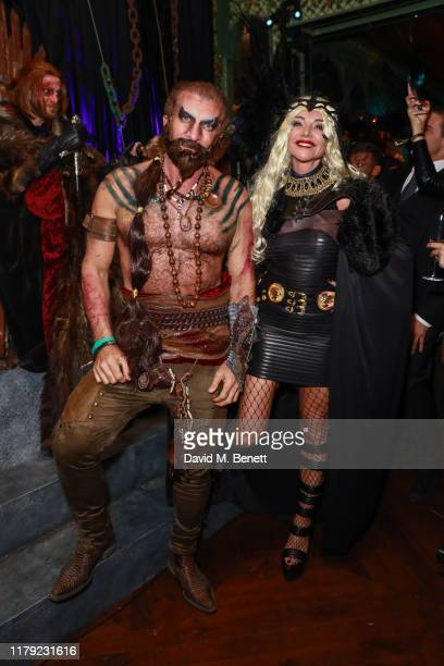 Steve Varsano and Lisa Tchenguiz attend Annabel's Halloween Party on October 31 2019 in London England