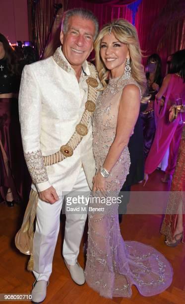 Steve Varsano and Lisa Tchenguiz attend Lisa Tchenguiz's birthday party on January 20 2018 in London England