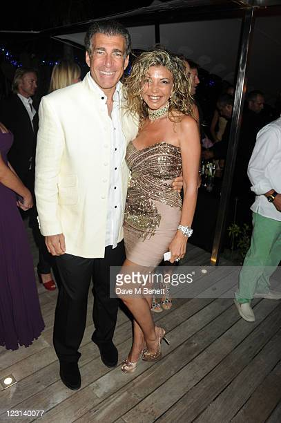 Steve Varsano and Lisa Tchenguiz attend the Goga Ashkenazi Summer Party at her villa on July 152011 in St TropezFrance