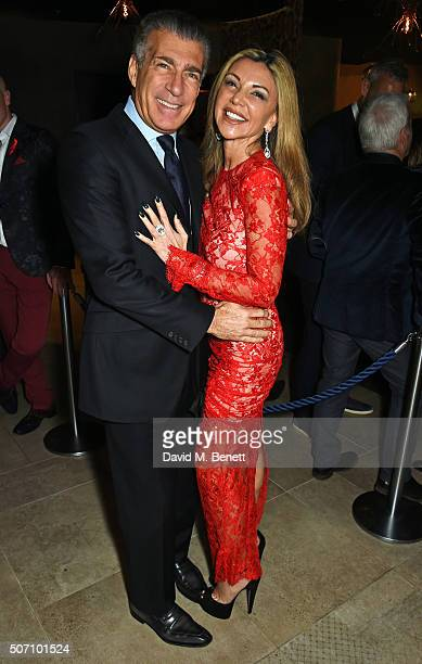 Steve Varsano and Lisa Tchenguiz attend the launch of M Victoria Street in aid of Terrence Higgins Trust on January 27 2016 in London England