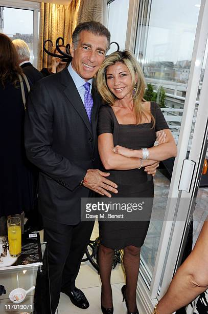 Steve Varsano and Lisa Tchenguiz attends Liz Brewer's 'Ultimate Guide To Party Planning Etiquette' Book Launch Party on June 18 2011 at the Westbury...