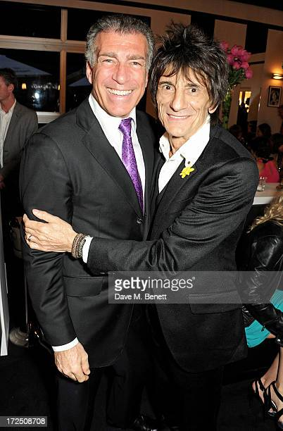 Steve Varsano and Ronnie Wood attend The Masterpiece Midsummer Party in aid of Marie Curie Cancer Care hosted by Heather Kerzner at The Royal...