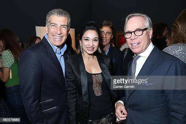 Steve Varsano Guest and Tommy Hilfiger attend a Contemporary Art party hosted by Tommy Hilfiger Dylan Jones and Sotheby's at Sotheby's on October 12...