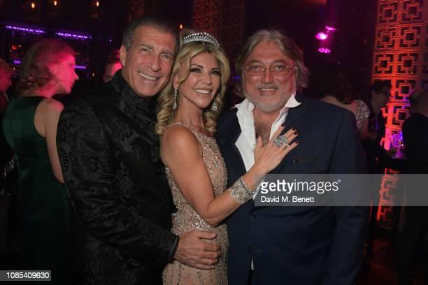 Steve Varsano Lisa Tchenguiz and Robert Tchenguiz attend Lisa Tchenguiz's birthday party at Buddha Bar Knightsbridge on January 19 2019 in London...