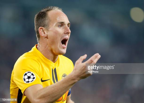 Steve von Bergen during Champions League match between Juventus v Young Boys in Turin on October 2 2018